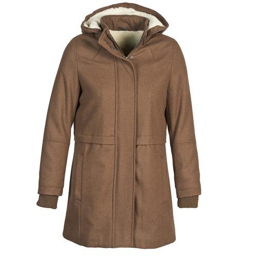 Clothing Women Coats Naf Naf ABHEIGE Brown