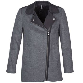 Clothing Women Coats Naf Naf ARNO Grey / Black