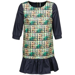Clothing Women Short Dresses Naf Naf ECAPS Black / Multicoloured