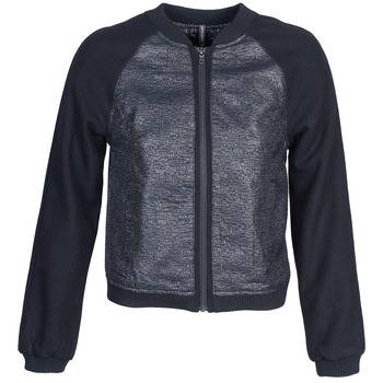 Clothing Women Jackets Naf Naf ECORCIA Grey / Black