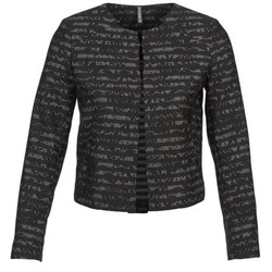 Clothing Women Jackets / Blazers Naf Naf LYMINIE Grey / Black