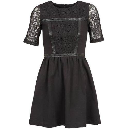 Clothing Women Short Dresses Naf Naf OBISE Black