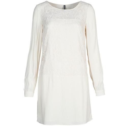Clothing Women Short Dresses Naf Naf LYNO Ecru