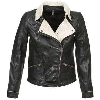 Clothing Women Leather jackets / Imitation leather Naf Naf CECO Black