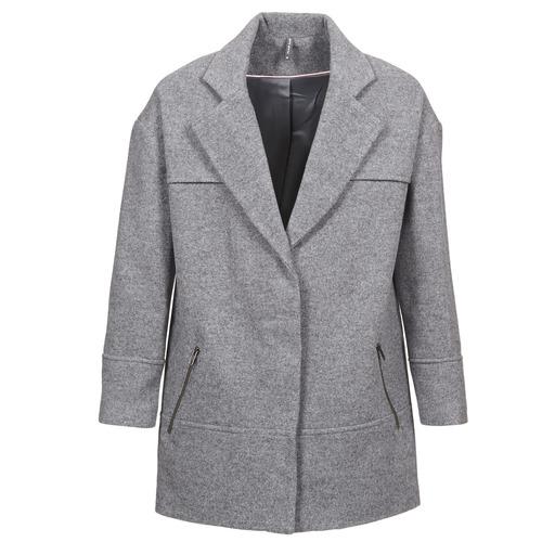Clothing Women Coats Naf Naf ADELI Grey