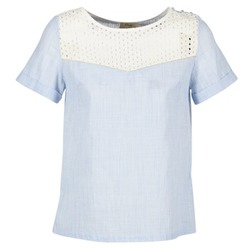 Clothing Women Tops / Blouses Betty London GERMA White / Blue