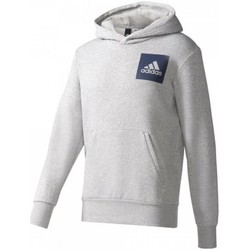 Clothing Men jumpers adidas Originals Essentials Chest Logo Pullover Hood Fleece M Grey