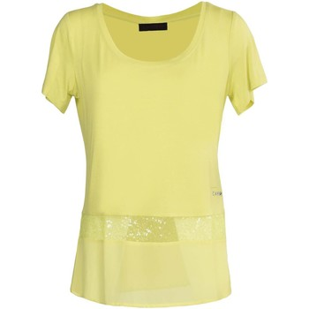 Clothing Women short-sleeved t-shirts Café Noir JT092 T-shirt Women Giallo