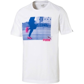 Clothing Men short-sleeved t-shirts Puma 590936 T-shirt Man Bianco Bianco