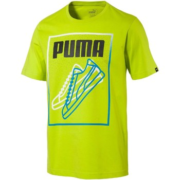 Clothing Men short-sleeved t-shirts Puma 590939 T-shirt Man Yellow Yellow