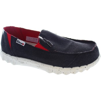 Shoes Men Loafers Hey Dude Farty Funk Black/Red