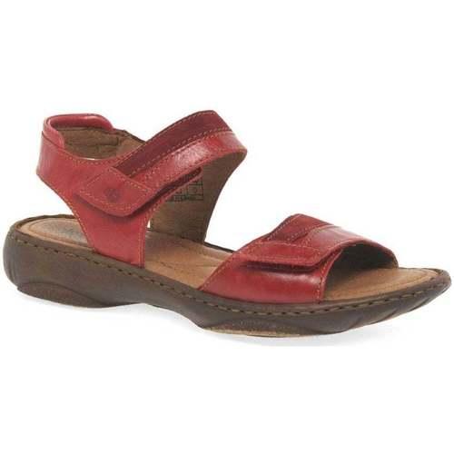 Shoes Women Sandals Josef Seibel Debra 19 Womens Leather Sandals red