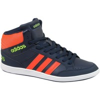 Shoes Children Shoes adidas Originals Hoops Mid K Orange-Navy blue
