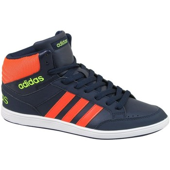 Shoes Children Shoes adidas Originals Hoops Mid K Navy blue-Orange