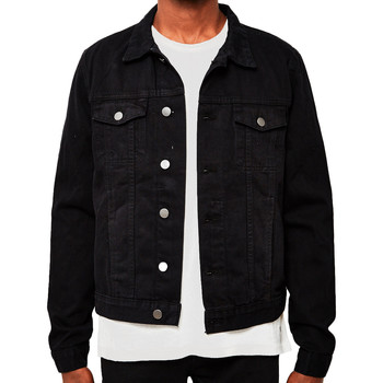 Clothing Men Denim jackets The Idle Man Denim Jacket Black