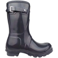 Shoes Women Wellington boots Hunter Original Short Gloss grey