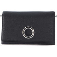 Bags Women Small shoulder bags Alexander Wang Riot clutch in black leather and rhodium Black