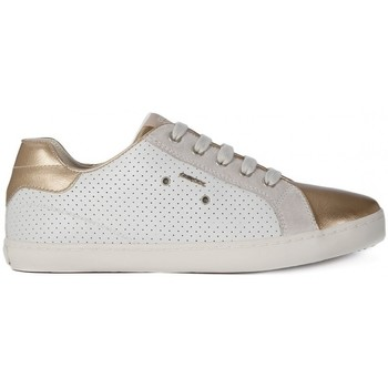 Shoes Girl Low top trainers Geox KIWI GIRL Bianco