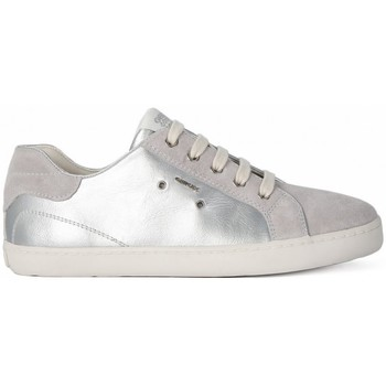 Shoes Girl Low top trainers Geox KIWI GIRL SILVER Argento