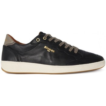 Shoes Men Low top trainers Blauer RETRO LOW BLACK Nero