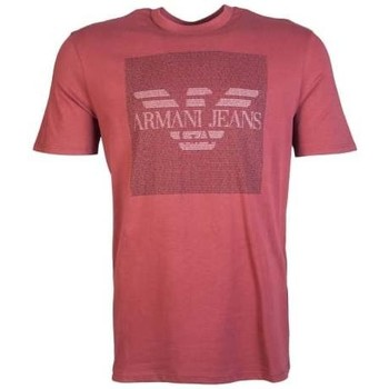 Clothing Men short-sleeved t-shirts Armani Jeans T Shirt 6X6T136J00Z red