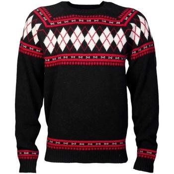 Clothing Men jumpers Diesel Designer Knitwear in Navy blue  Black and Red K-ARSH black