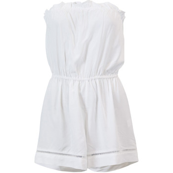 Clothing Women Shorts / Bermudas Seafolly White Bustier Playsuit Ocean Rose WHITE