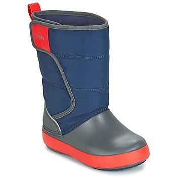 Shoes Children Snow boots Crocs LODGEPOINT SNOW BOOT K Marine