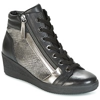 Shoes Women Hi top trainers Gabor DOSE Black / Silver