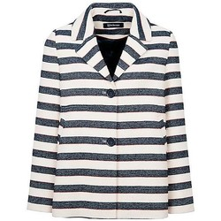 Clothing Women Jackets / Blazers Anastasia - Stripe Womens Summer Box Jacket Blue