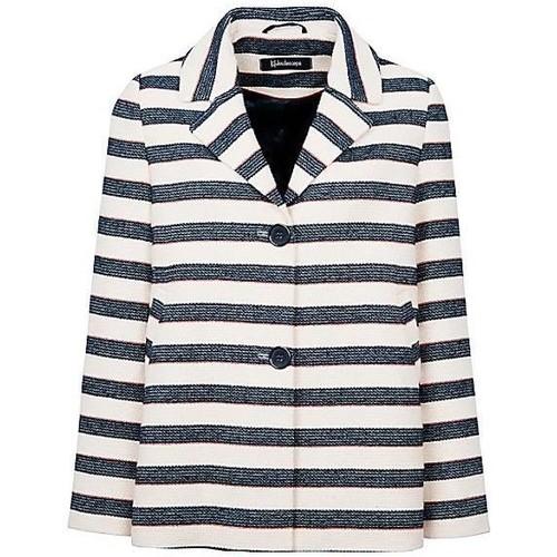 Clothing Women Jackets / Blazers Anastasia - Stripe Women`s Summer Box Jacket Blue