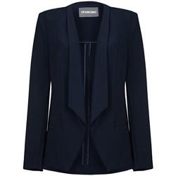 Clothing Women Jackets / Blazers Anastasia -Womens Navy Unlined Waterfall Blazer Blue
