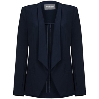 Clothing Women Jackets / Blazers Anastasia -Womens Navy Unlined Waterfall Blazer Blue