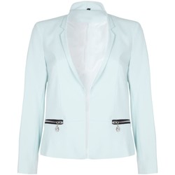Clothing Women Jackets / Blazers Anastasia -  Mint Womens Short Edge To Edge Blazer Green