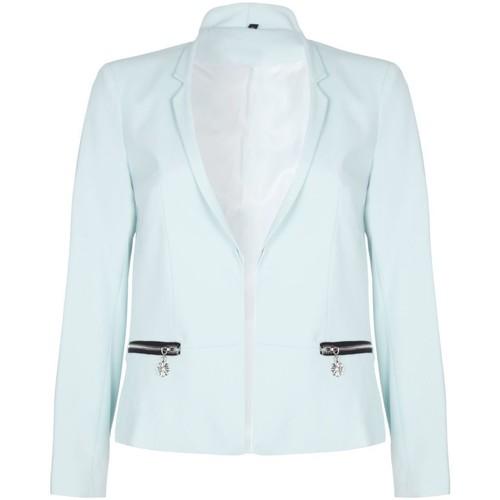 Clothing Women Jackets / Blazers Anastasia -  Mint Womens Short Edge To Edge Blazer Green