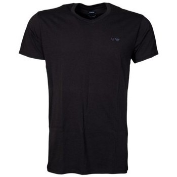 Clothing Men short-sleeved t-shirts Armani AJ Two Pack Regular V-neck T-shirts in White, Grey and Navy Blu grey