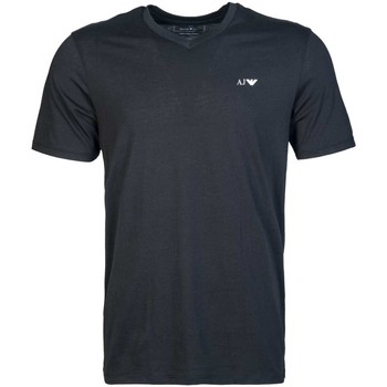 Clothing Men short-sleeved t-shirts Armani Jeans 2 Pack V Neck T-shirt 8N6D026JPFZ black