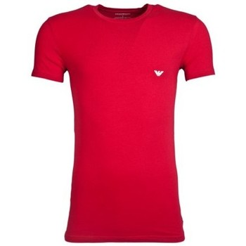 Clothing Men short-sleeved t-shirts Armani Crew T-Shirt 1110355A745 red