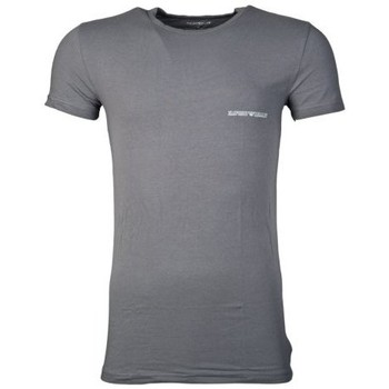 Clothing Men short-sleeved t-shirts Armani Fitted Underwear T-shirt in Red and Charcoal Grey 1110355P725 grey