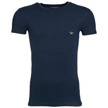 Clothing Men short-sleeved t-shirts Armani T-Shirt 111035 5P745 blue