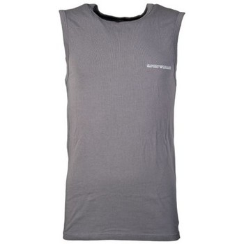 Clothing Men Tops / Sleeveless T-shirts Armani Underwear Vest in Black, Red and Charcoal Grey 1112345P725 grey