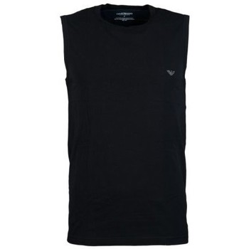 Clothing Men Tops / Sleeveless T-shirts Armani Vest in Black, White, Red and Orange 1112344P728 black