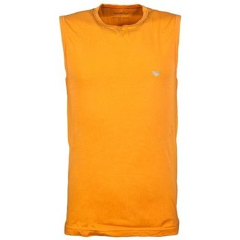 Clothing Men Tops / Sleeveless T-shirts Armani Vest in Black  White  Red and Orange 1112344P728 orange