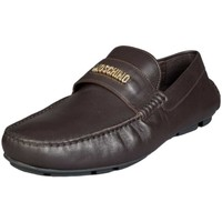Shoes Men Loafers Love Moschino Leather Shoes 2009566 9102 brown