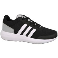 Shoes Children Running shoes adidas Originals Cblackftwwhtnix Cloudfoam Race White-Black