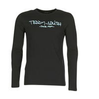 Clothing Men Long sleeved tee-shirts Teddy Smith TICLASS 3 ML Black