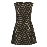 Clothing Women Short Dresses Molly Bracken DIRCO Black / Gold