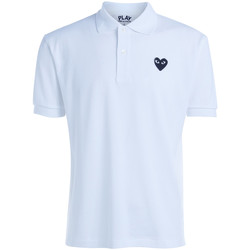 Clothing Women short-sleeved polo shirts Comme Des Garcons Polo Comme Des Garçons PLAYwhite t-shirt with black heart White