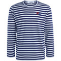 Comme Des Garcons double heart striped sweater