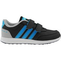 Shoes Children Low top trainers adidas Originals VS Switch 20 Cmf C Black-Blue-Grey